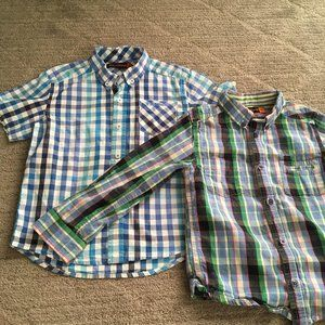 Bundle Ben Sherman Boy Dress Shirts Plaid Check